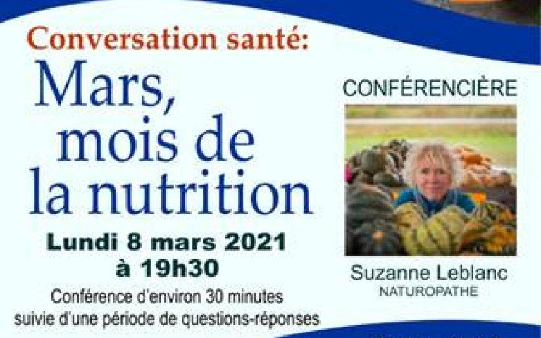 Conférence: Mars mois de la nutrition