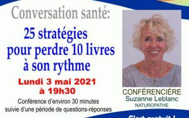 Conférence: 25 stratégies pour perdre 10 livres