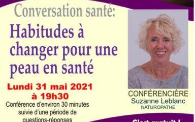 Conférence: Habitudes à changer pour une peau en santé